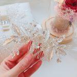 Silver Leaf Crystal Rhinestone Flower Headwear <b>Wedding</b> Decorations Accessories Hair <b>Jewelry</b> Comb For Bride Bridemaid Hot XL046