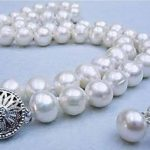 Women Gift word Love women Fashion <b>Jewelry</b> Natural 9-10mm White Freshwater Pearl Necklace earring Set beads <b>jewelry</b> <b>making</b> fashi