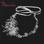 Wedding Hair Accessories handmade headpiece Charming crystal Flower Headband Bride Tiaras Floral Hair <b>Jewelry</b> RE746