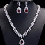 MOODPC Fine <b>Jewelry</b> Sets AAA Red Cubic Zircon <b>Jewelry</b> Sets ,Earrings /<b>Necklace</b>,Promotion,Nickel Free