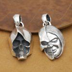 <b>Handmade</b> 925 Silver Skull Pendant Thai Silver Skeleton Pendant vintage sterling silver SKULL pendant FUNK <b>Jewelry</b> gift