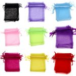 9*12cm 50pcs sterling-silver-jewelry organza bag packaging gift for <b>jewellery</b> storage Christmas Wedding <b>Decoration</b> Supplie