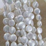 2017 Real Promotion Aaa Coin Pearls Freshwater Beads 11-12mm Flat Strings Strand Pearl <b>Jewelry</b> Making Material <b>Supply</b>