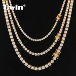 Uwin 3mm 4mm 5mm Round Cut Iced Out Cubic Zirconia Tennis Link Chain Hiphop Top Quality CZ Box Clasp Necklace Women Men <b>Jewelry</b>