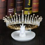 Vintage Gold Tiaras And Crowns Pearl Rhinestone Hair <b>Jewelry</b> <b>Handmade</b> Big Round Crown Women Bridal Wedding Hair Accessories Gift