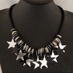 Pentagram pendant black necklace/kpop vintage <b>jewelry</b> chunky Exaggerated big collar women <b>accessories</b>/colar/collier femme/max