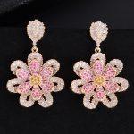 GODKI 41mm Fashion Trendy Hollow Flower Cubic Zirconia <b>Wedding</b> EngagementParty Dress up Earring Fashion <b>Jewelry</b> for Women