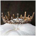 Charm Retro Round Tiara Baroque Bronze Plated Bridal Big Crowns Crystal <b>Wedding</b> Tiaras Crowns Queen Princess Hair <b>Jewelry</b> HG295