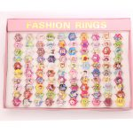 Wholesale <b>Jewelry</b> <b>Accessories</b> 100pcs Mix Lot Cartoon Cinderella snow princess Little Mermaid Baby Kids Girl Children Rings Gift