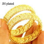 JHplated (Two Pieces)Womens <b>Wedding</b> Bridal Bangle Bracelet Dubai Bangle <b>Jewelry</b> Africa Arab gold color