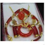 real silver-<b>jewelry</b> Women's Wedding <b>Jewelry</b> Red gem pendant earrings bracelet Ring Sets 5.23 silver <b>jewelry</b> brinco