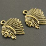 Free Shipping! 10 pcs Antique Bronze Indian Chief Charm <b>Native</b> <b>American</b> Charms Handmade Charms Pendants <b>Jewelry</b> Findings A440