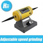 220V Adjustable speed grinding & polishing machine included two Buffing Wheel,<b>Jewelry</b> <b>Making</b> Supplies Polishing Motor goldsmith