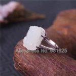 925 silver Natural White HeTian YU <b>Handmade</b> PiXiu Inlay Design adjustable Ring Lucky Ring + certificate Fashion Woman's <b>Jewelry</b>