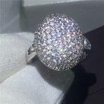 Fashion <b>Jewelry</b> Bella Engagement <b>wedding</b> band ring for women Full 5A zircon crystal 925 Sterling silver rings christmas gift