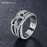 ANFASNI New Design 925 Sterling Silver Delicate Sentiments Bow Knot Finger Rings For Women <b>Wedding</b> <b>Jewelry</b> Gift PSRI0065-B