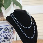 2017 New For Necklace 13*18mm Black Long Multilayer Pearl Necklace Pendant Women Necklace Girl Chain Party <b>Jewelry</b> Brand <b>Making</b>