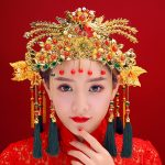 Classical Chinese Wedding Phoenix Queen Coronet Crown Brides Hair <b>Jewelry</b> Accessories Long Tassel Headband Hair Sticks Earrings