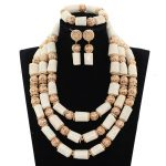 White Coral Beads <b>Necklace</b> Designs Nigerian Wedding African Beads <b>Jewelry</b> Set Original Coral Statement Jewellery Set CNR171