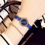 New Special Offer Kimio Ladies Imitation Ceramic Watch Luxury <b>Silver</b> Blue <b>Bracelet</b> Watches With Fine Design Strap Women Dress