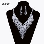 Classic Design <b>Silver</b> Plated Rhine Shining simple modelling Jewelry Sets For Women Crystalt Engagement Party Accessories N232