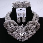 Fabulous <b>Silver</b> Nigerian Wedding Jewelry Set Costume African Nigerian Wedding Beads Fashion Jewelry Sets Hot 2017 Free Shipping