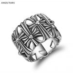 Vintage Design 100% 925 Sterling Silver Cross Finger Ring Fine <b>Jewelry</b> For Women and Men Christmas Gift Size 8-10 # bague