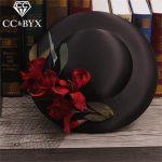 CC <b>Jewelry</b> Tiara Romantic Hat Type Headbands Handmade Flower For Women <b>Wedding</b> Decorations Bridal Hair Accessories For Girl 9240
