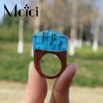 2018 Unique Trendy <b>Handmade</b> Resin Wooden <b>Jewelry</b> Ring Magniticent Snow Mountain Miniature Worlds Inside for Women Finger <b>Jewelry</b>