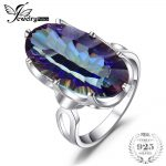 JewelryPalace 10ct Mystic Blue Rainbow Topas Cocktail Ring Concave Genuine Solid 925 Sterling <b>Silver</b> Charm Vintage Gift <b>Jewelry</b>