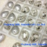 Droplet Sew on Rhinestones Crystal Clear Color Flatback Pear Shape Sewing Fancy Stone <b>Jewelry</b> <b>Making</b> 2holes
