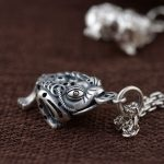 FNJ 925 Silver Toad Pendant Fashion Animal Coin 100% Pure S925 Solid Thai Silver Pendants for Women Men <b>Jewelry</b> <b>Making</b>