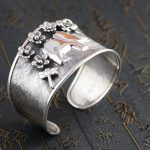 Deer king S925 sterling silver bracelet <b>jewelry</b> wholesale silver <b>jewelry</b> <b>handmade</b> Chiang Mai Thailand new female
