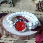 Beauties of Emperor EPOZZ nature gemstone series new quartz watch women 925 <b>Silver</b> natural white pearl <b>bracelet</b> watches H1022S1