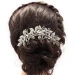 2017 New <b>Fashion</b> Leaves Flower Wedding Hair Comb Clear Rhinestone Crystal Bride Hair Accessories Women <b>Jewelry</b> XBY688