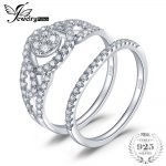 JewelryPalace Anniversary 0.8ct Cubic Zirconia Wedding Band Pave Ring 925 Sterling <b>Silver</b> Engagement Gift New Fine <b>Jewelry</b>