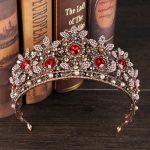 Vintage Crystal Beads Tiara Headband Baroque Crown Rhinestone Tiaras Crowns Queen Pageant Prom <b>Wedding</b> Hair <b>Jewelry</b> GL-419