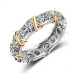 Victoria Wieck Brand Desgin <b>Jewelry</b> 925 Sterling Silver AAA CZ Stones <b>Wedding</b> Women Engagement Band Gold Ring gift Size 5-11