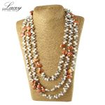luxury real natural freshwater pearl jewelry <b>necklace</b> long for women 190cm-200cm,fashion mother pearl <b>necklace</b> gifts bag