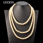 UDDEIN Multi layer pearl <b>jewelry</b> fashion statement necklace women wedding bridal <b>accessories</b> African beads <b>jewelry</b> maxi necklace