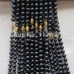"new Wholesale 10PCS 8-9mm TAHITIAN pearl NECKLACE 18 ""Hand Made beads Fashion <b>Jewelry</b> <b>Making</b> Design Gifts For Girl Women YS0328"