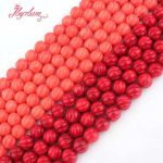8mm Round Carved Orange,Red Coral Beads Ball Natural Stone Beads For DIY Necklace Bracelets <b>Jewelry</b> <b>Making</b> 15″ Free Shipping