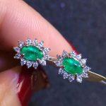 SHILOVEM 925 sterling <b>silver</b> Natural Emerald classic fine Jewelry Customizable women wedding women wholesale yh040602