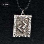 MCSAYS Viking <b>Jewelry</b> Viking Rune Pendant <b>Antique</b> Viking Necklace Means Harvest and Reward Mens Fashion Accessories 4SL