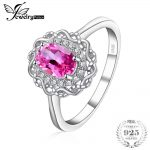 JewelryPalace Vintage 1ct Genuine Oval Cut Pink Topaz Halo Ring 925 Sterling <b>Silver</b> Gifts For Her Anniversary Fashion <b>Jewelry</b>