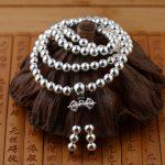 FNJ 925 <b>Sterling</b> <b>Silver</b> Bracelet 6MM Ball Bead S925 Thai <b>Silver</b> Chain Bracelets for Women men <b>Jewelry</b>