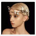 Retro Baroque Tiara Bridal Hair Accessories <b>Handmade</b> Butterfly Crowns Two Rows Gold Tiaras Wedding <b>Jewelry</b> Women Hairband