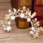 The bride <b>jewelry</b> European starfish pearl conch shells marriage yarn studio crown headdress accessories