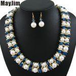 MayJim Statement necklace 2017 fashion <b>jewelry</b> sets <b>Handmade</b> big beads chain crystal Pearl <b>jewelry</b> sets Vintage beads Bijoux