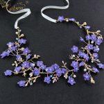 <b>Wedding</b> Hair Accessories Purple Flower Bridal Hair Vine Baby's Breath Headpiece <b>Jewelry</b> Decoration Headbands for party